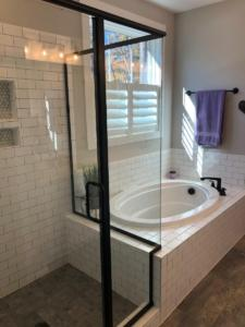 master shower tub